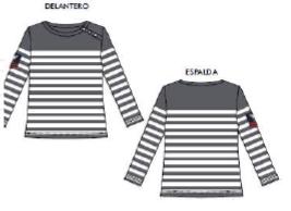 Camiseta Jersey Rayas marinera